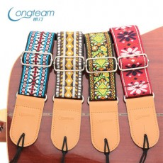 Longteam High-end Embroidery Guitar Strap Ethnic Style Folk Acoustic Guitar Electric Guitar Universal Strap Accessories