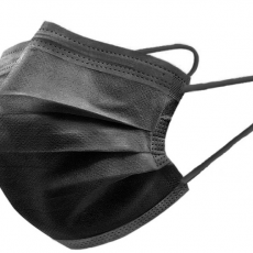 Black Mask Disposable Three-layer Non-woven Fabric with Melt Blown Fabric Breathable Dust-proof Civil Mask