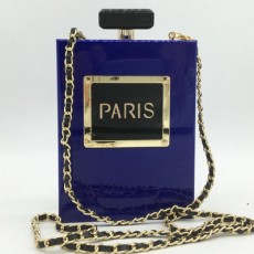 Stylish Evening Bag Acrylic Perfume Bottle Banquet Bag Alphabet Chain Evening Bag For Ladies MOQ 1 PCS