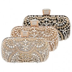 New Style Banquet Bag Ladies Luxury Handbag Studded With Diamonds Evening Bag Handbag MOQ 1 PCS