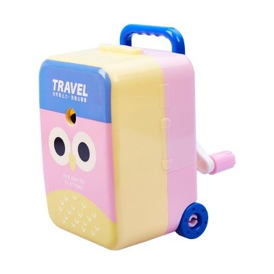 Travel World Pencil Sharpener Cartoon Creative Pencil Sharpener New Large Suitcase Pencil Sharpener For Students
