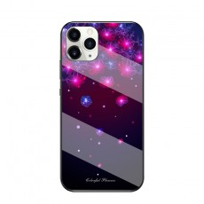 Starry Sky Butterfly Flower Glass Phone Case Protective Cover Suitable For iphone11pro/XR/XSmax/se2/ iphone 12