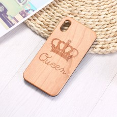 Custom  Music Guitar Solid Wood Radium Carved Pear Protective Shell For iPhone11/XM Samsung S10/S10P