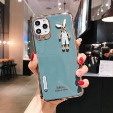 Suitable For iPhone11Promax Mobile Phone Soft Shell Transfer XR Plating 8plus Protective Cover Rabbit XS/7p For Men And Women