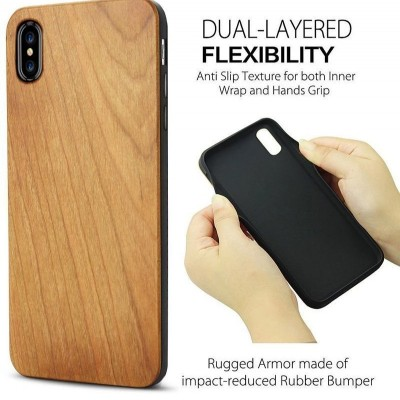 TPU Liberty Mobile Shell Radium Carved Wooden Protective Case for iPhone11/XR 8P Samsung S10/S10P
