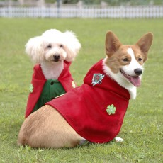 2020 Christmas Pet Clothes Funny Cospaly Little Red Riding Hood Dog Set