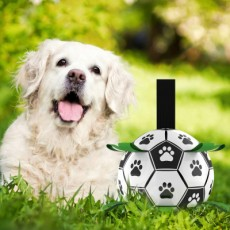 Pet Supplies Dog Ball Toy Outdoor Multi-function Interactive Rope Dog Football Dog Toy MOQ 1PCS