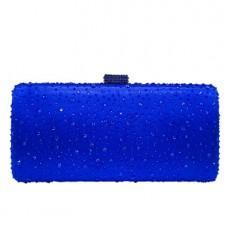 Evening Bag Pure Color Evening Bag Horizontal Style Square Hot Diamond Bag Dinner Bag Chain Bag for Ladies MOQ 1PCS