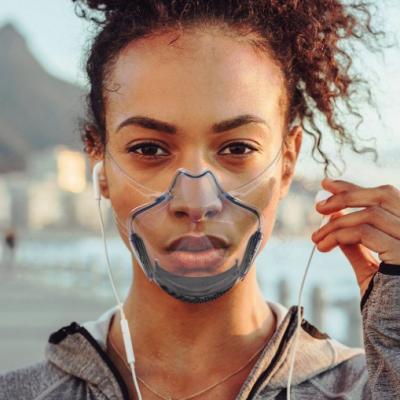 Pc Mask Lip Mask Transparent Protective Mask Anti Splash Isolation Mask Super Clear Transparent Explosive