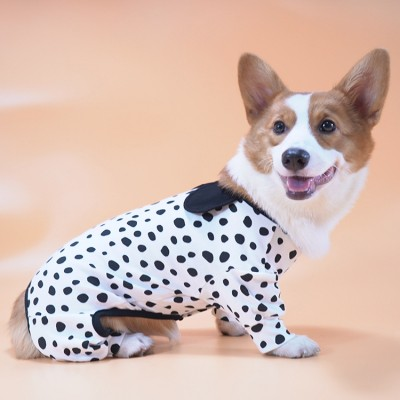 Stretch Cute Pet Pajamas For Small And Medium-sized Dogs Home Clothes All-inclusive Anti-hair Corgi Clothes