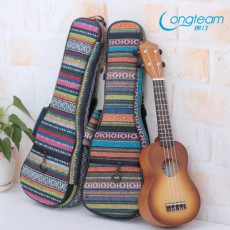 21/23/26 Inch Ukulele Cotton Backpack with Thick Ethnic Organ Bag
