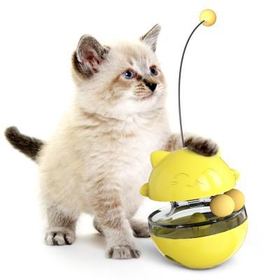Pet Supplies Shake Cat Toy Teasing Cat Stick Teasing Artifact Track Ball Does Not Spill Food Ball MOQ 30 PCS