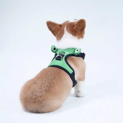 Cute Frog Dog Chest Strap Corgi Fight Traction Vest For Pets