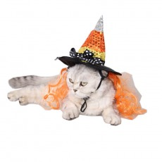 Pet Halloween Supplies Flower Pet Accessories Holiday Prom Decoration Hat Wizard Angular Hat