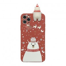Christmas Deer Mobile Phone Case Liquid Square Fine Hole All-inclusive Anti-dropping Suitable For iphone