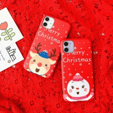 Christmas Mobile Phone Shell iPhoneXs Soft Shell Imd All-inclusive 11promax Protective Shell 7plus Matte 6s