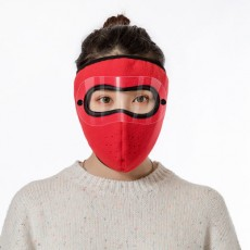 Warm Goggles Cotton Mask Ear Protection Outdoor Riding Winter Dustproof Cold and Windproof Thickened Transparent Mask