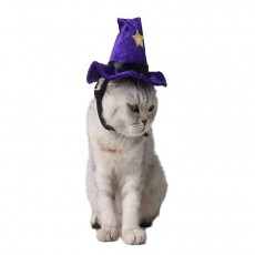Halloween Accessories Purple Cat Party Supplies Adjustable Cross Dress Pet Hat