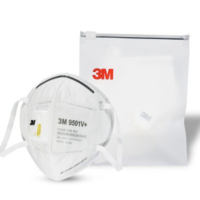 3M 9501V+ Individual Packaged KN95 Particulate Matter Protection Industrial Dust and Smog PM2.5 Mask