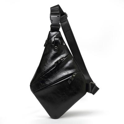 Personalized Waterproof Men's Chest Bag Multi-function Personal Anti-theft PU Gun Bag Fashion Outdoor Messenger Bag For Men