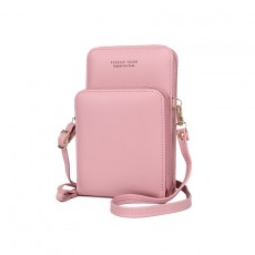 Mobile Phone Bag Vertical Wild Double Layer Pull Large Capacity Multi-function Shoulder Messenger Bag