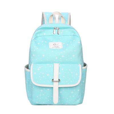 Rucksack Middle School Student Casual Print Backpack College Wind Travel Bag