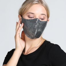 Face mask female lace Sequin spring and summer fashion protection personality fashion dustproof breathable pure cotton face mask can be cleaned