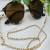 Fashion simple mask rope pearl glasses chain metal chain antiskid glasses chain 4