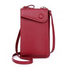 Large-capacity Mobile Phone Bag Zipper One-shoulder Messenger Bag Multi-card Position Ladies Wallet Change Clutch