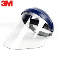 3M 82500+82701 Set Anti-impact Clear Propionate Faceshield Welding Window Workplace Safety Headgear