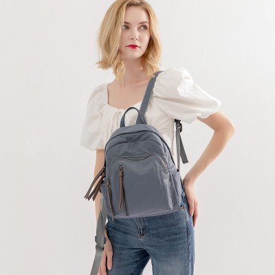 Street Trend Oxford Cloth Backpack Fashion Tassel Anti-theft Backpack For Women