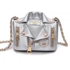 Chain Rivet Diagonal Shoulder Bag Jacket Style Fashion Trend Clothes Bag
