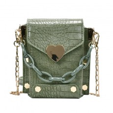 Personalized Chain Crossbody Bag Crocodile Pattern One Shoulder Small Square Bag For Women