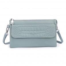 Diagonal Soft Leather Bag Casual Simple Leather Large Capacity Multi-layer Zipper Female Diagonal Bag