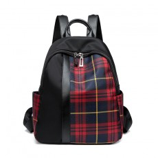 Contrast Checkered Backpack All-match Large Capacity Oxford Travel Backpack For Women