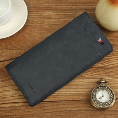 Long Casual Retro Ultra-thin Oil Wax Leather Mobile Phone Soft Leather Wallet For Men