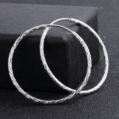 S925 Sterling Silver Earrings Ladies Atmosphere Exaggerated Earrings Pendant Fashion Temperament Silver Earrings MOQ 1 set