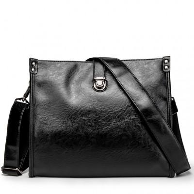 Diagonal Shoulder Bag Men's Leather Bag Business Casual Envelope Briefcase