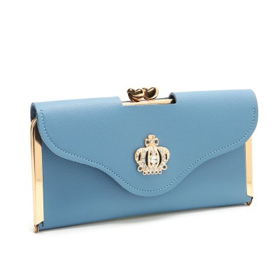 Women's Wallet Long Fashional Clutch Bag Diamond Buckle Wallet Card Bag Dinner Bag