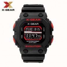 Waterproof Men's Electronic Watch Fashion Sports Black Watch MOQ 20PCS