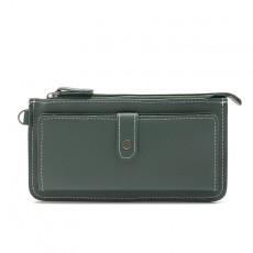 Ladies Wallet Long Fashion Gun Color Dark Button Wallet Large-capacity Multi-function Hand Purse Purse