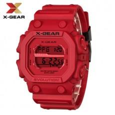 X-GEAR REVOLUTION Waterproof Men's Electronic Watch Fashion Sports Red Watch MOQ 20PCS