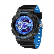 X-GEAR REVOLUTION Stylish Casual Sports Watch Waterproof Men's Electronic Watch Blue Black