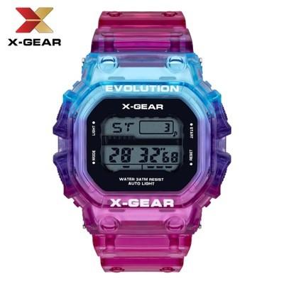 X-GEAR REVOLUTION Color Contrast Sports Watch Waterproof Men's Electronic Watch MOQ 20PCS