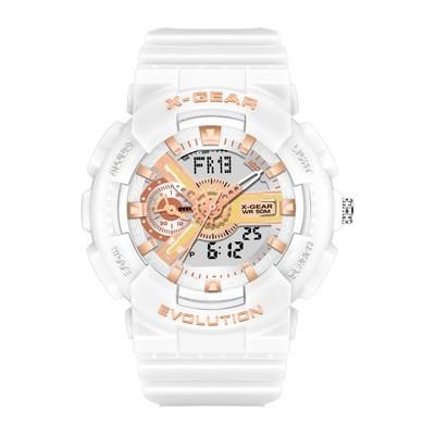 Cool White REVOLUTION Stylish Casual Sports Watch Luminous Waterproof Men's Electronic Watch