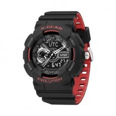 Black REVOLUTION Stylish Casual Sports Watch Luminous Waterproof Men's Electronic Watch