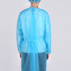 Spot Blue Pp Processing Non-woven Disposable Protective Isolation Clothing Isolation Clothing Dust-proof Work Clothes