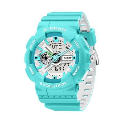 Bright Blue Stylish Casual Sports Watch Luminous Waterproof Men's Electronic Watch