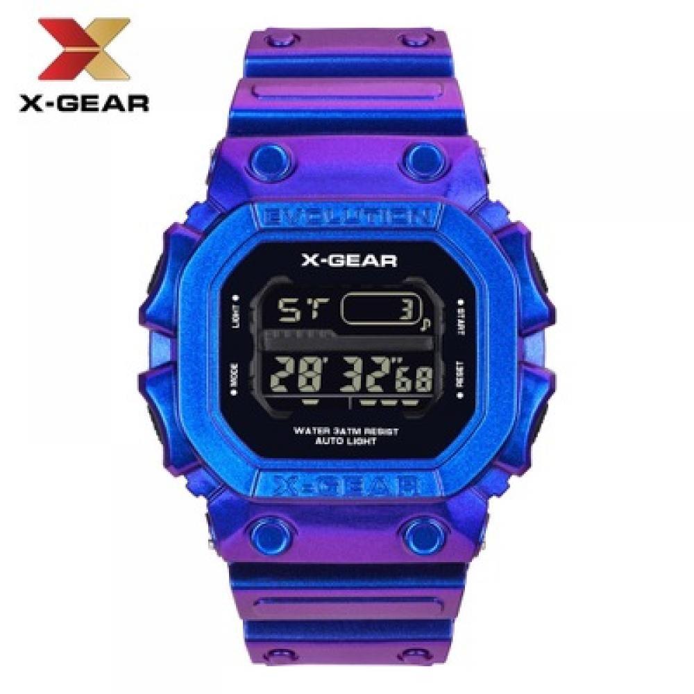 X-GEAR REVOLUTION Stylish Purple Sports Watch Waterproof Men's Electronic Watch MOQ 20PCS
