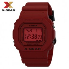 X-GEAR 3ATM Professional Waterproof Outdoor Sports Watch Square Simple Digital Electronic Watch MOQ 20PCS